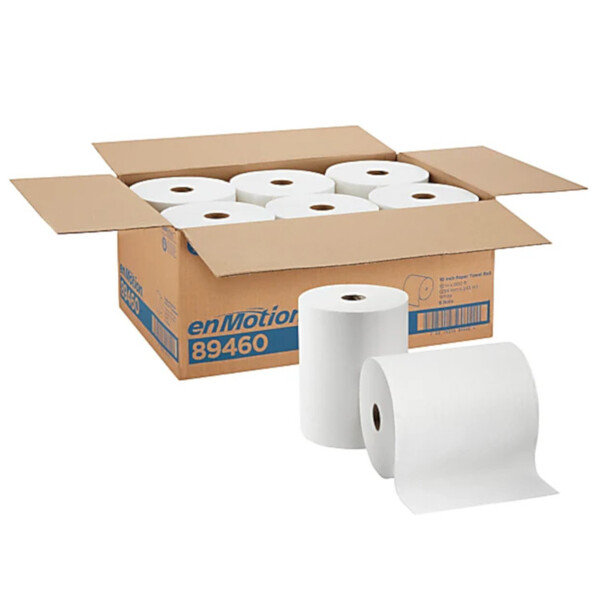 enMotion® by GP PRO 1-Ply Paper Towels, 800' Per Roll, Pack Of 6 Rolls White