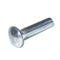 Carriage Bolt 10-24 X 2  Grade 2 Zinc Plated