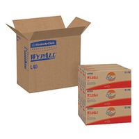 "Kimberly-Clark® WYPALL L40 Wipes, Unscented, 16 13/32"" x 9 13/16"", 100 Wipes Box, 9 Boxes Carton"