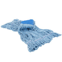 Wilen Atomic Loop Looped-End Wet Mop Head, Blue, Pack Of 12